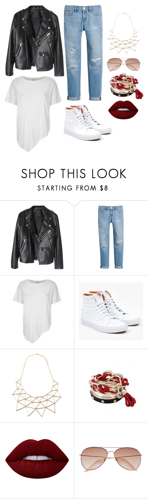 """""""Red Rebel"""" by kirsten-hall on Polyvore featuring White House Black Market, River Island, Vans, Forever 21, Lime Crime and H&M"""