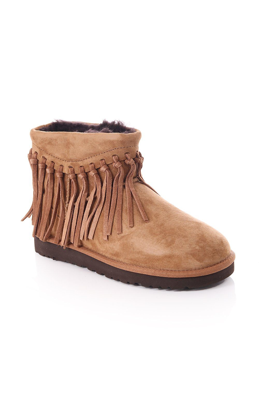 6a57375123c Ugg Australia Wynona Frindge Suede Ankle Boot Chestnut | UGG AW15 ...