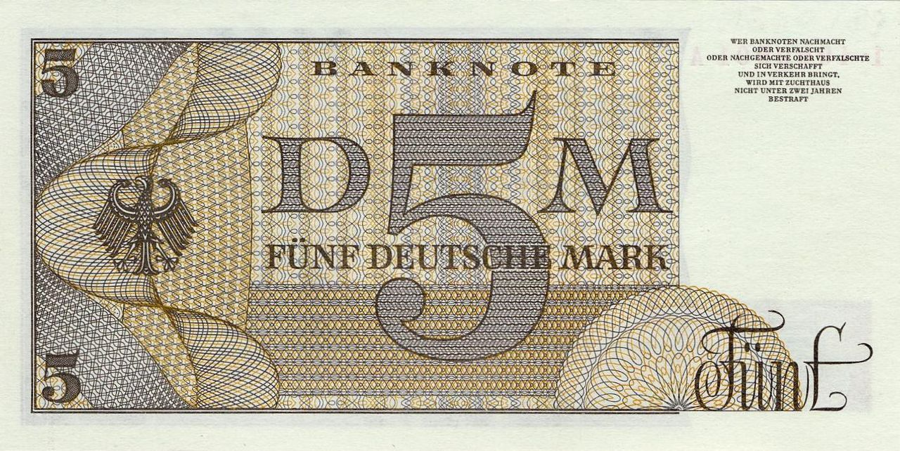 5 dm bbkII berlin rs.jpg Deutsche mark