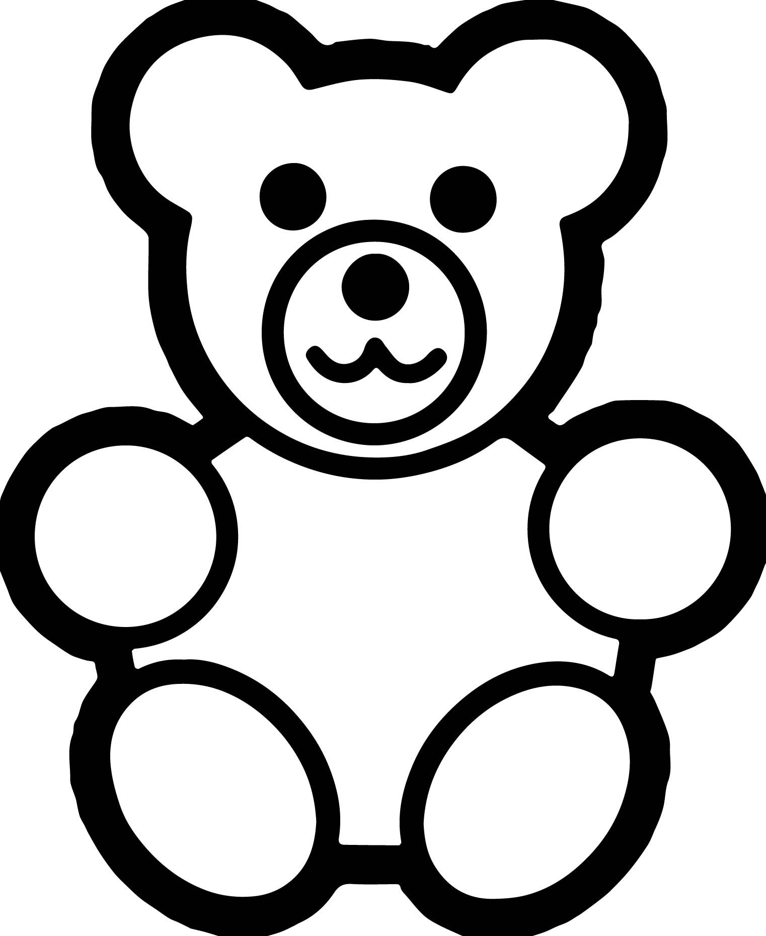 Cool Basic Preschool Bear Coloring Page