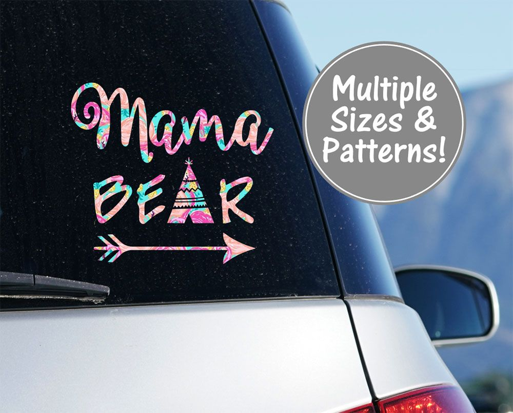 Mama Bear Car Decal Stickers For Car Decals For Moms Etsy Mama Bear Decal Bear Decal Car Decals Stickers [ 806 x 1000 Pixel ]