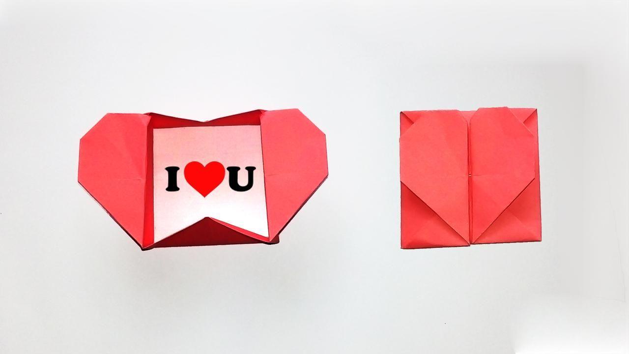 Origami Heart Box Envelope For Valentine S Day Origami Star Box Origami For Beginners Origami Heart