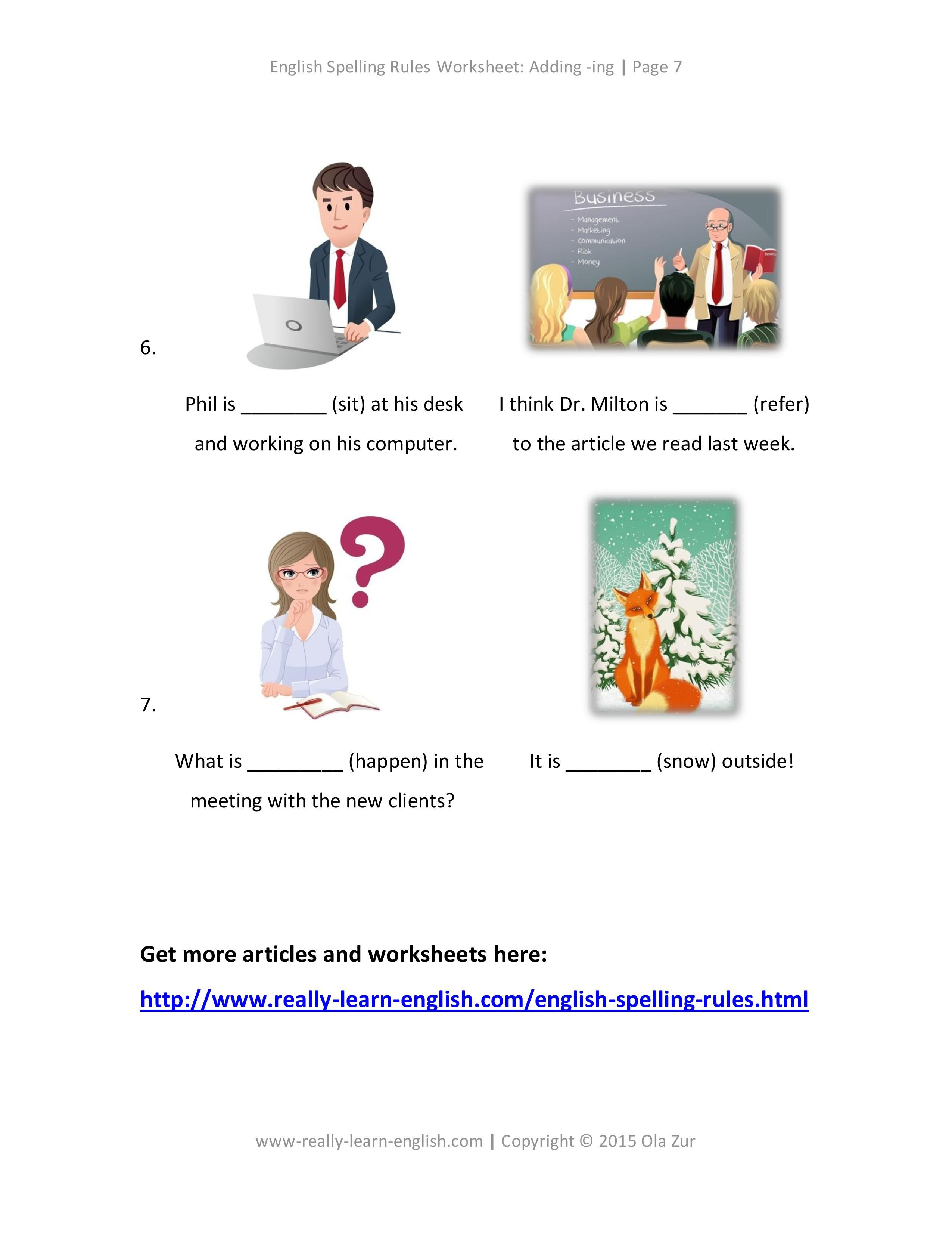 English Spelling Rules How to add ing to a verb in English FREE