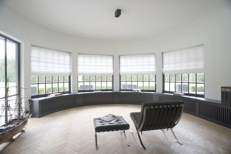 Interior interieur curtains gordijnen modern black white