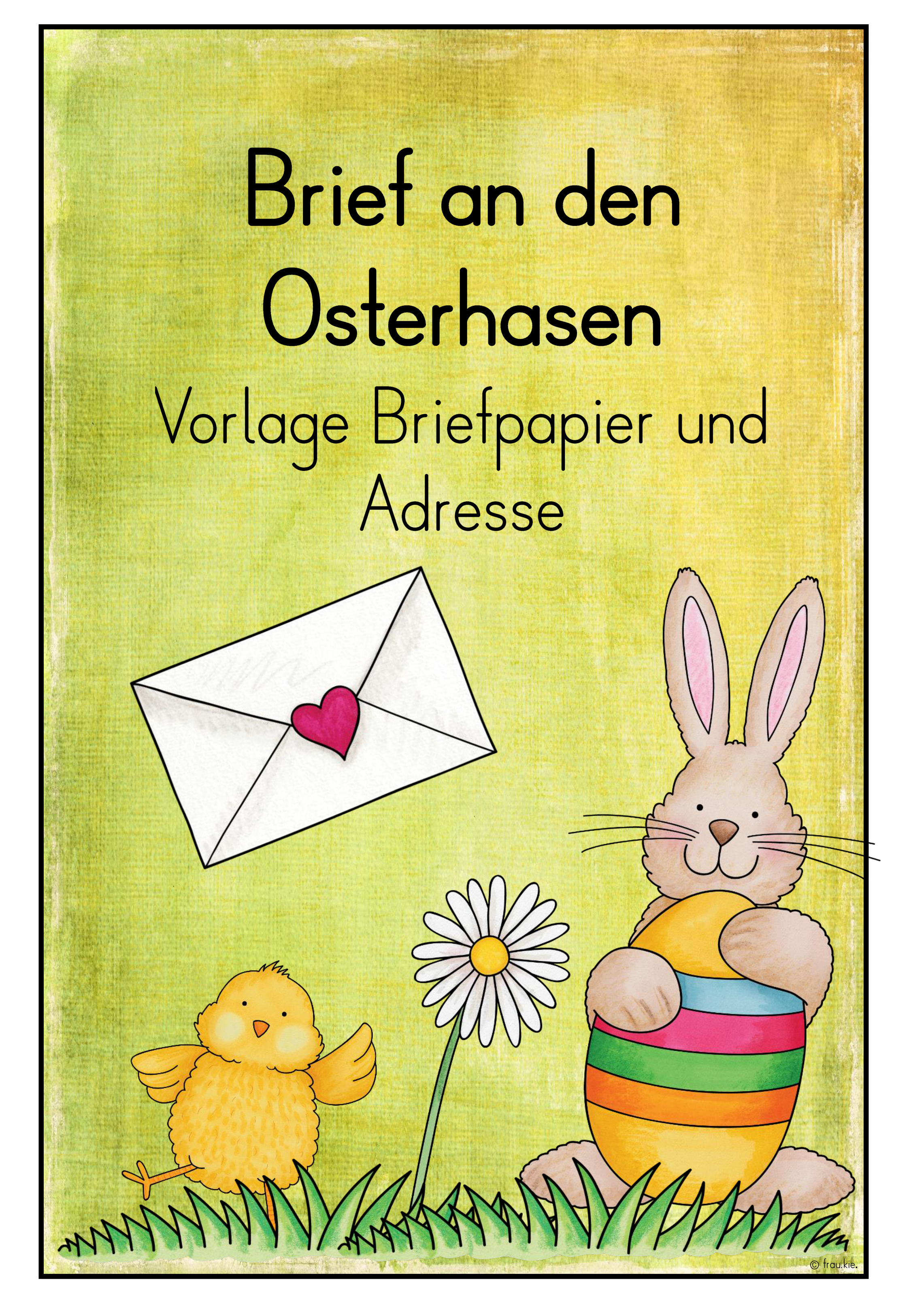 Kinderbrief Ein Brief Vom Osterhasen In 3 Varianten
