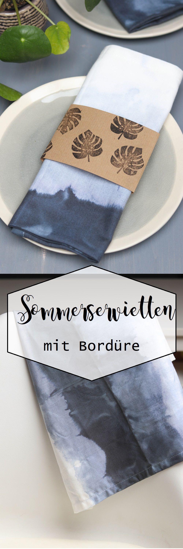 sommertischdeko get crafty pinterest batik servietten und basteln. Black Bedroom Furniture Sets. Home Design Ideas