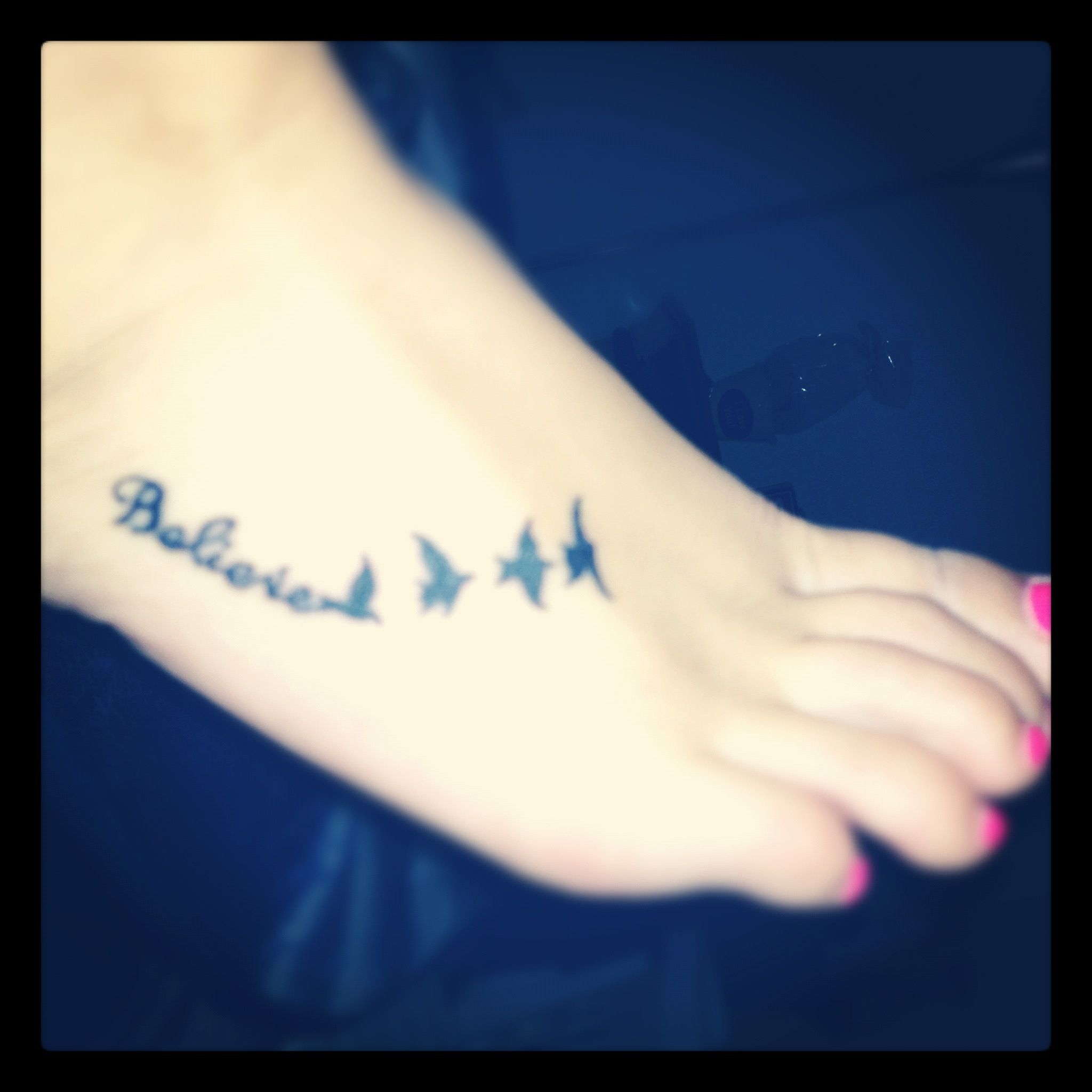 Believe Foot Tattoo For The Soul Tattoos Foot Tattoos Believe