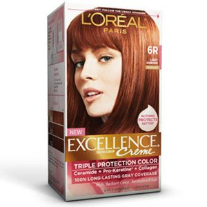 excellence174 creme 6r light auburn hair color loreal