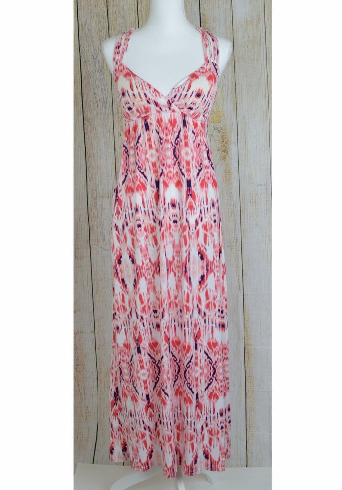 Hippie Rose Juniors Molded-Cup Maxi Dress XS Coral Ombre Knit ...