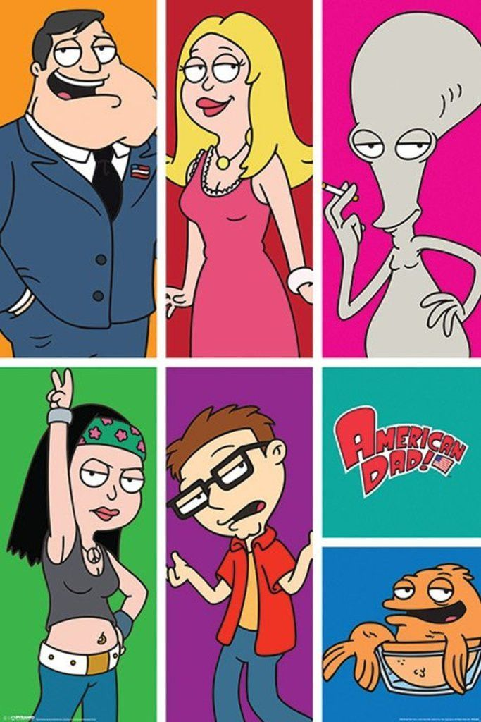 American Dad Panels Official Poster Official Merchandise
