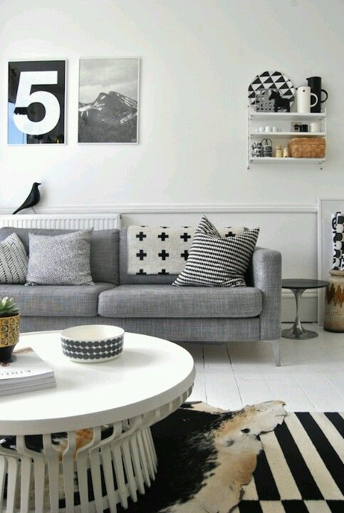 Scandinavian design, I like the different prints