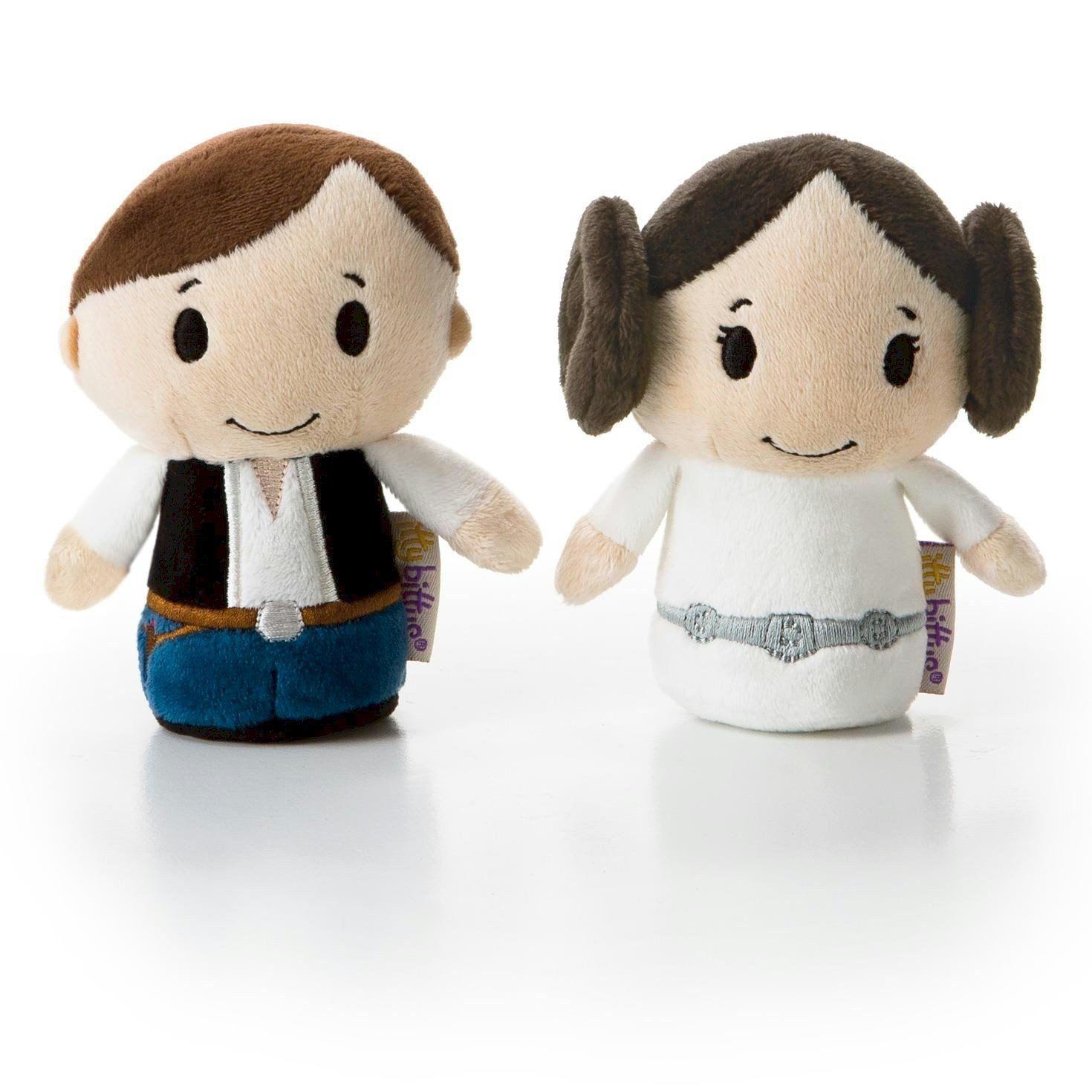 Amazon.com: Hallmark itty bittys Star Wars Han Solo and Princess ...