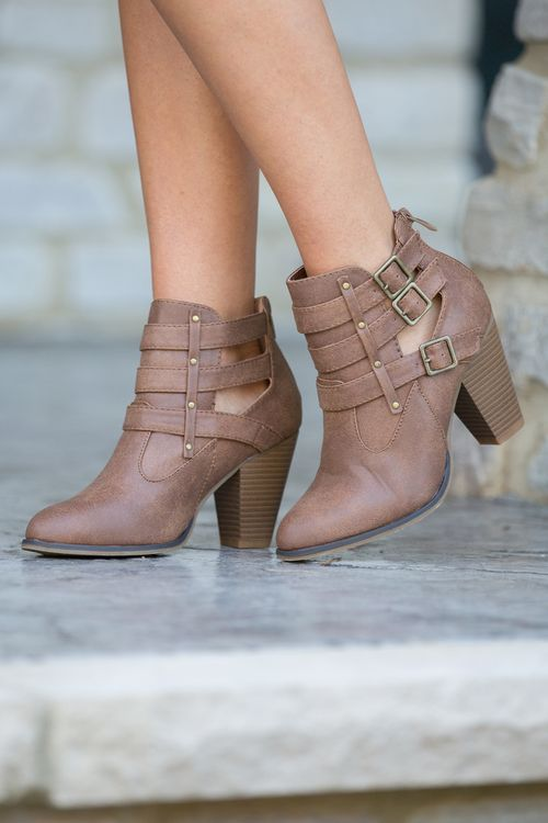 23524adaf02 The Bethany Booties Brown - The Pink Lily | Fashion Goals | Shoes ...