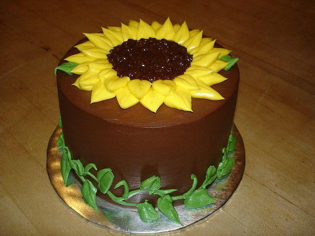 Sunflower Cake Cakes Pinterest Sunflower Cakes Sunflowers And