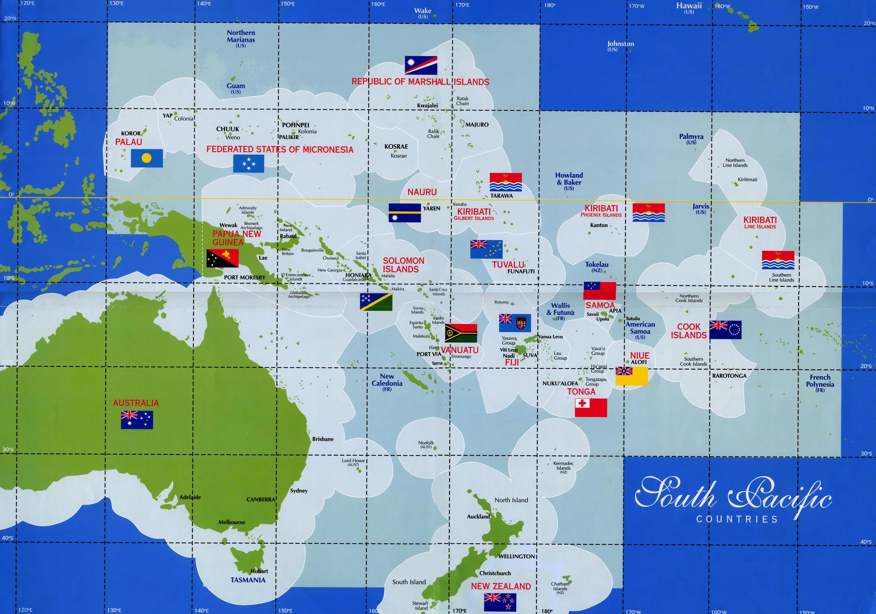 pacific islands map south pacific countries map see map details from kiritourscom
