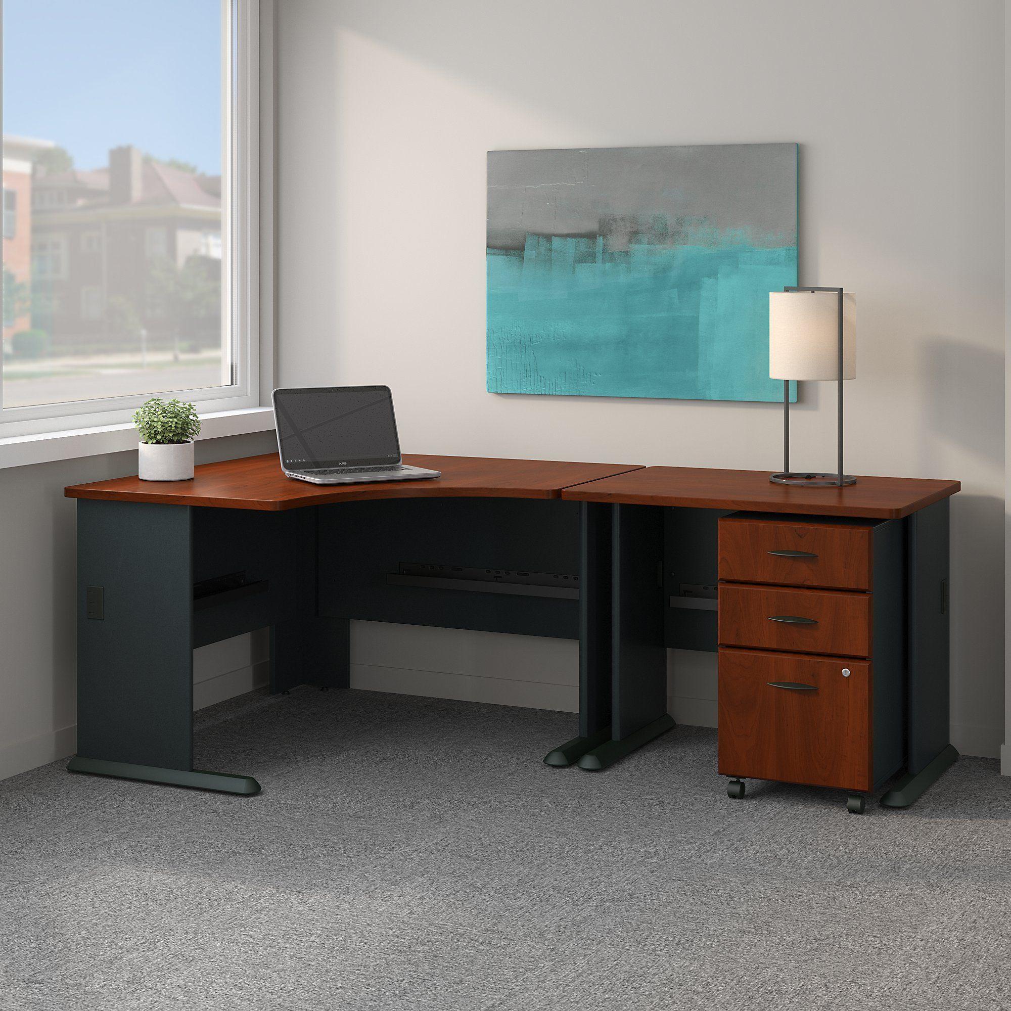 Bush Business Furniture Series A 48w Corner Desk With 36w Return