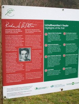 Burton's life is told on plaques and posts along his trails in South Wales. The Birthplace Trail traces his early years as a rugby star at school and his early stardom. (Betsa Marsh) - Tracking Richard Burton through his Welsh birthplace and boyhood home