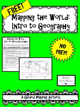 FREE Mapping The Continents and Oceans--No PREP