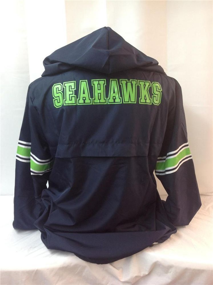 89e0757bd VICTORIAS SECRET PINK SEATTLE SEAHAWKS HALF ZIP WINDBREAKER PULLOVER LARGE  NEW  VICTORIASSECRET  WINDBREAKER