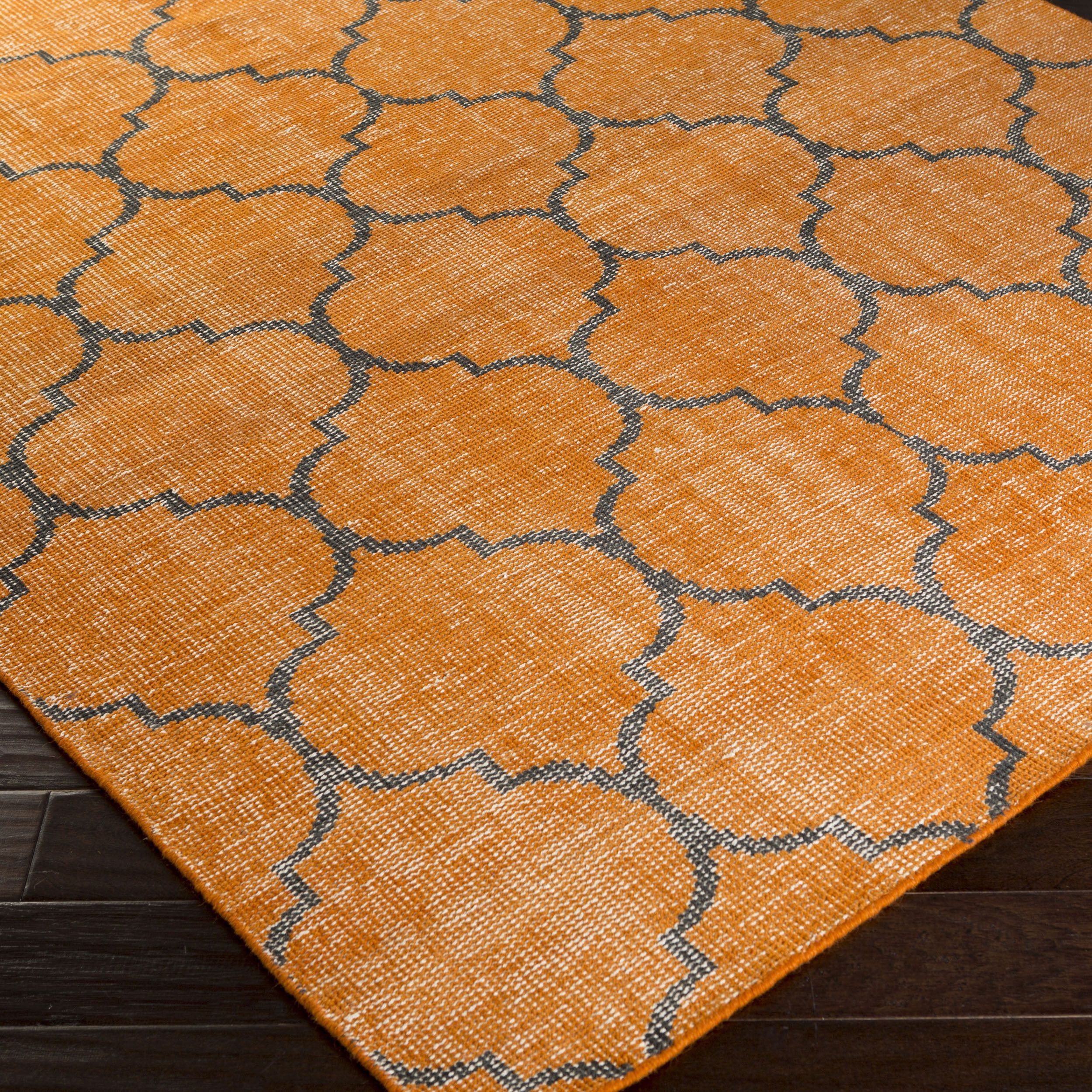 """Hand-knotted Beverly Contemporary Wool Rug (5'6 x 8'6) (Orange-(5'6"""" x 8'6"""")), Orange, Size 6' x 9'"""