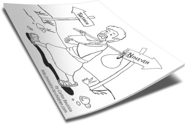 Jonah Coloring Page   Books Worth Reading   Pinterest