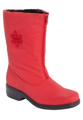 a10799a2dfe0 Wide Width Snowflake water-repellent wide-calf boot by Comfortview ...