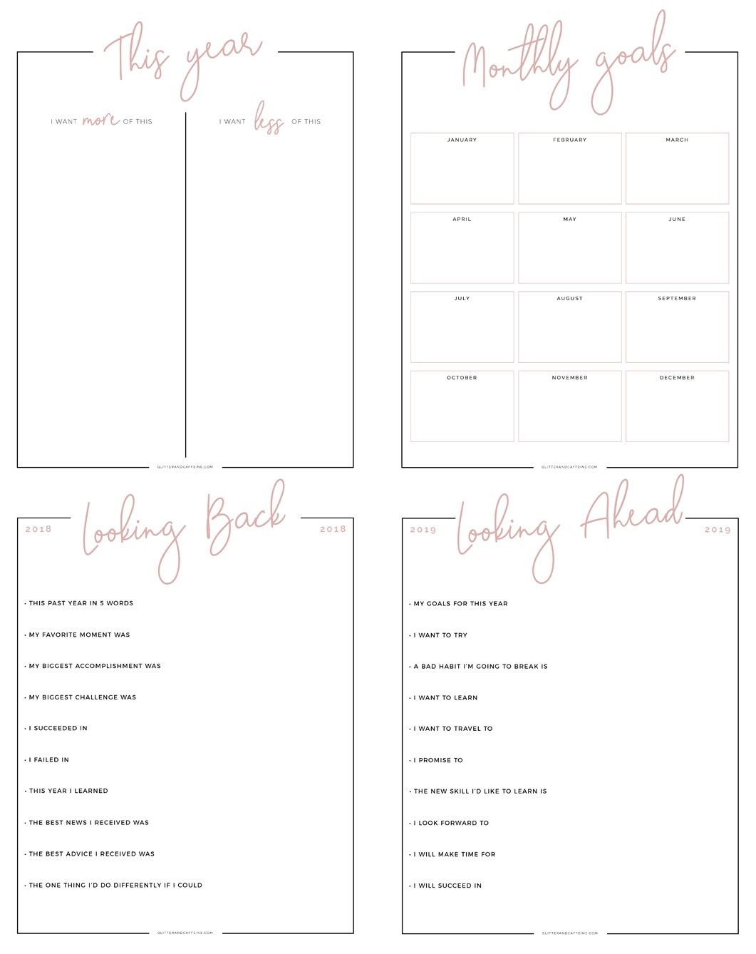 New Year S Goals Amp Resolutions Free Printables