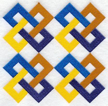 Friendship Chain Quilt Block - 4 Block Lg | quilting project ... : friendship quilt blocks - Adamdwight.com