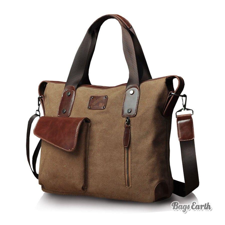 Mens Canvas Messenger Bag Laptop