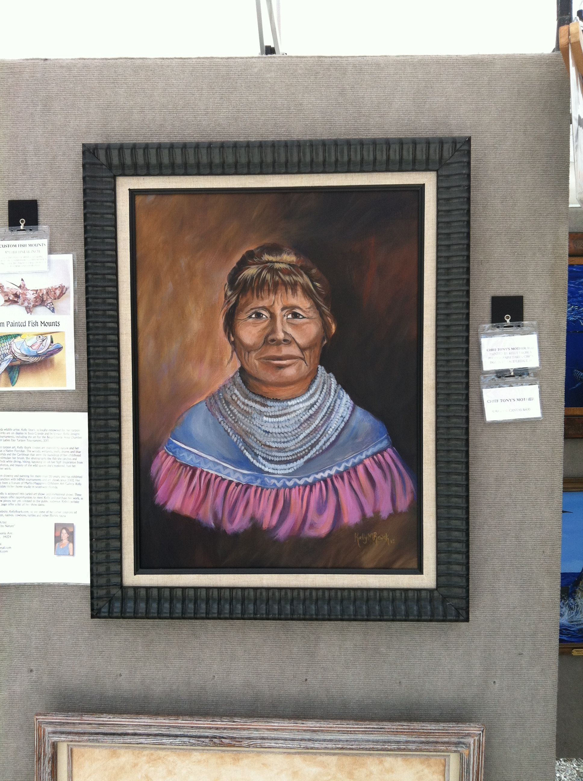 """""""Chief Tonys Mother"""" by artist Kelly Reark is a painting honoring Seminole Chief Tonys mother circa 1905."""