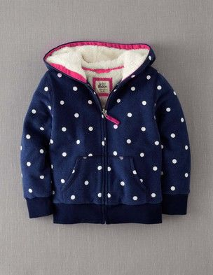 Shaggy Lined Zip Through 31653 Hooded Tops at Boden