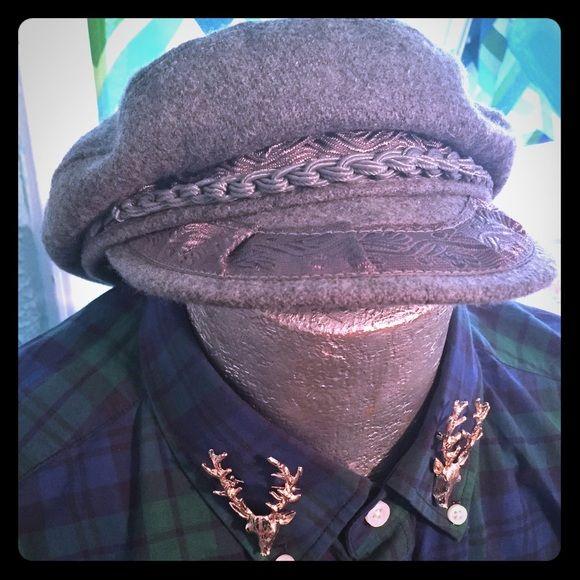 Authentic vintage sailor captain hat wool This is a wonderful