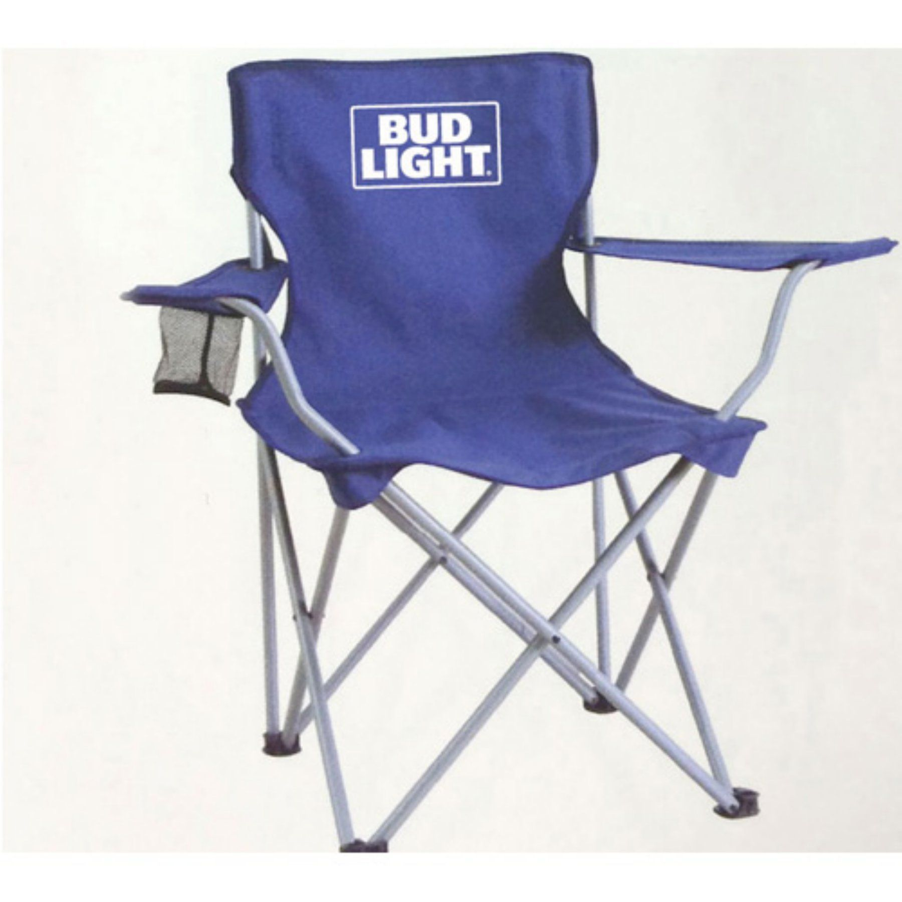 Outdoor Bud Light Straight Back Folding Lawn Chair TG 7860BL