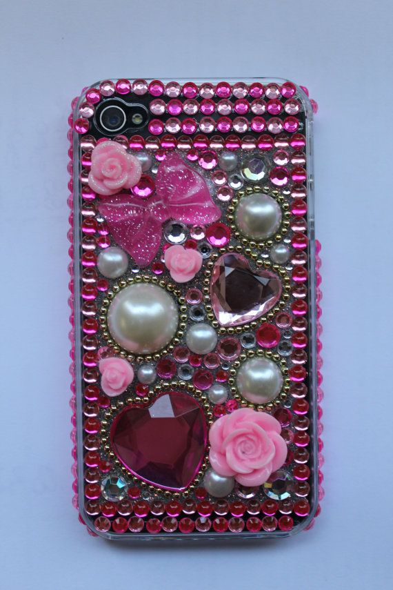 Blinged iphone case by BlingedOutCases on Etsy, $25.00