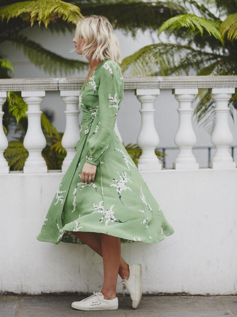 Realisation Par Dress| Saint Laurent trainers| Sneakers with Dresses