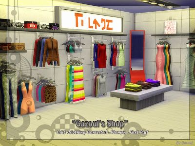 My Sims 4 Blog: Clothing Shop Set by Gazoul | Sims 4