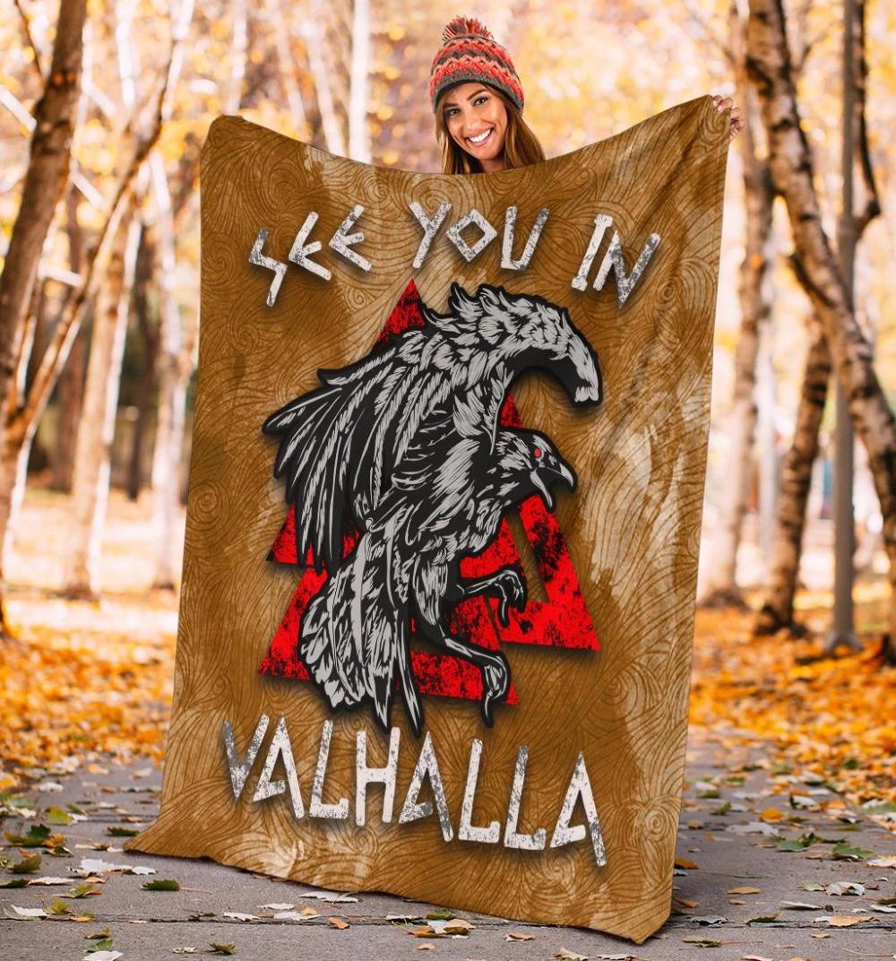 See You In Valhalla Fleece Blanket - vikingenes