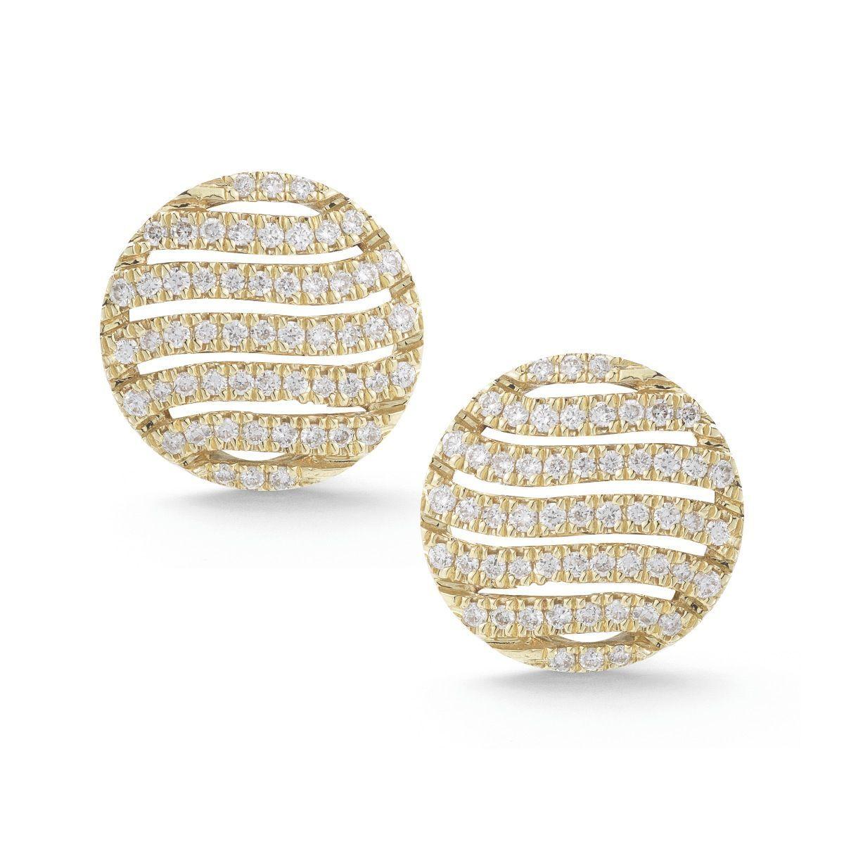 JEB Diamond Disc Studs Studs Earrings Dana Rebecca Designs