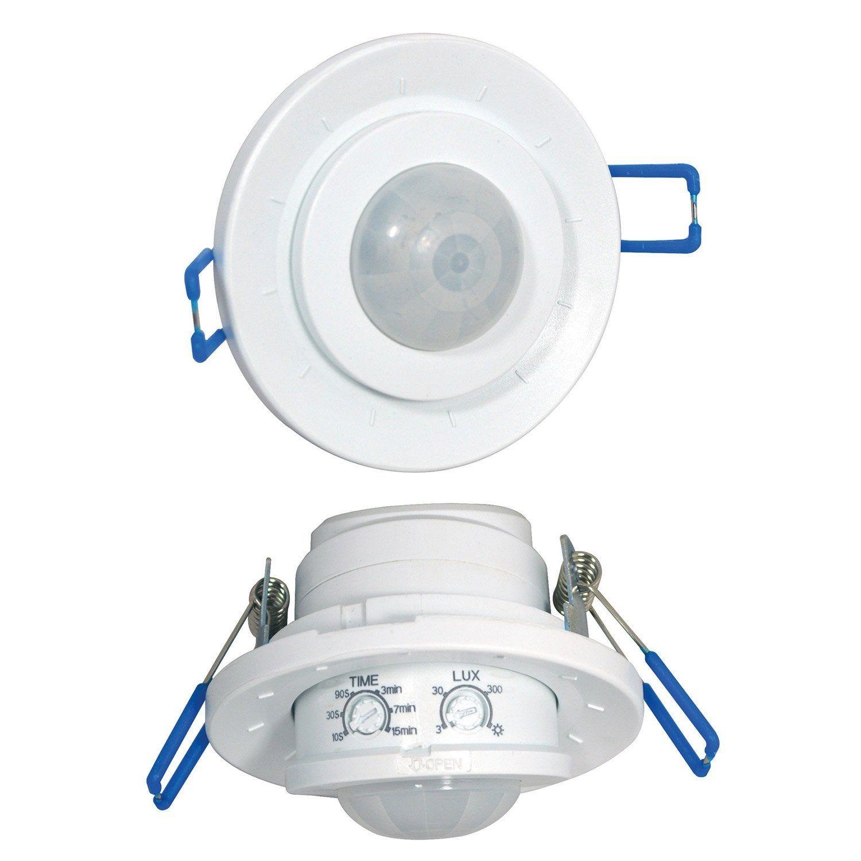 Detecteur De Mouvement A Encastrer 360 Plastique Blanc Detecteur De Mouvement Plastique Detecteur