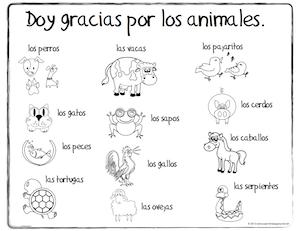 Spanish Coloring Pages Animals | Bgcentrum