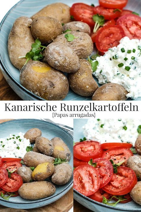 Quick and easy: Canarian wrinkled potatoes {Papas arrugadas} with herb q ... - Essen - and easy: Canarian wrinkled potatoes {Papas arrugadas} with herb q ...   - Essen -