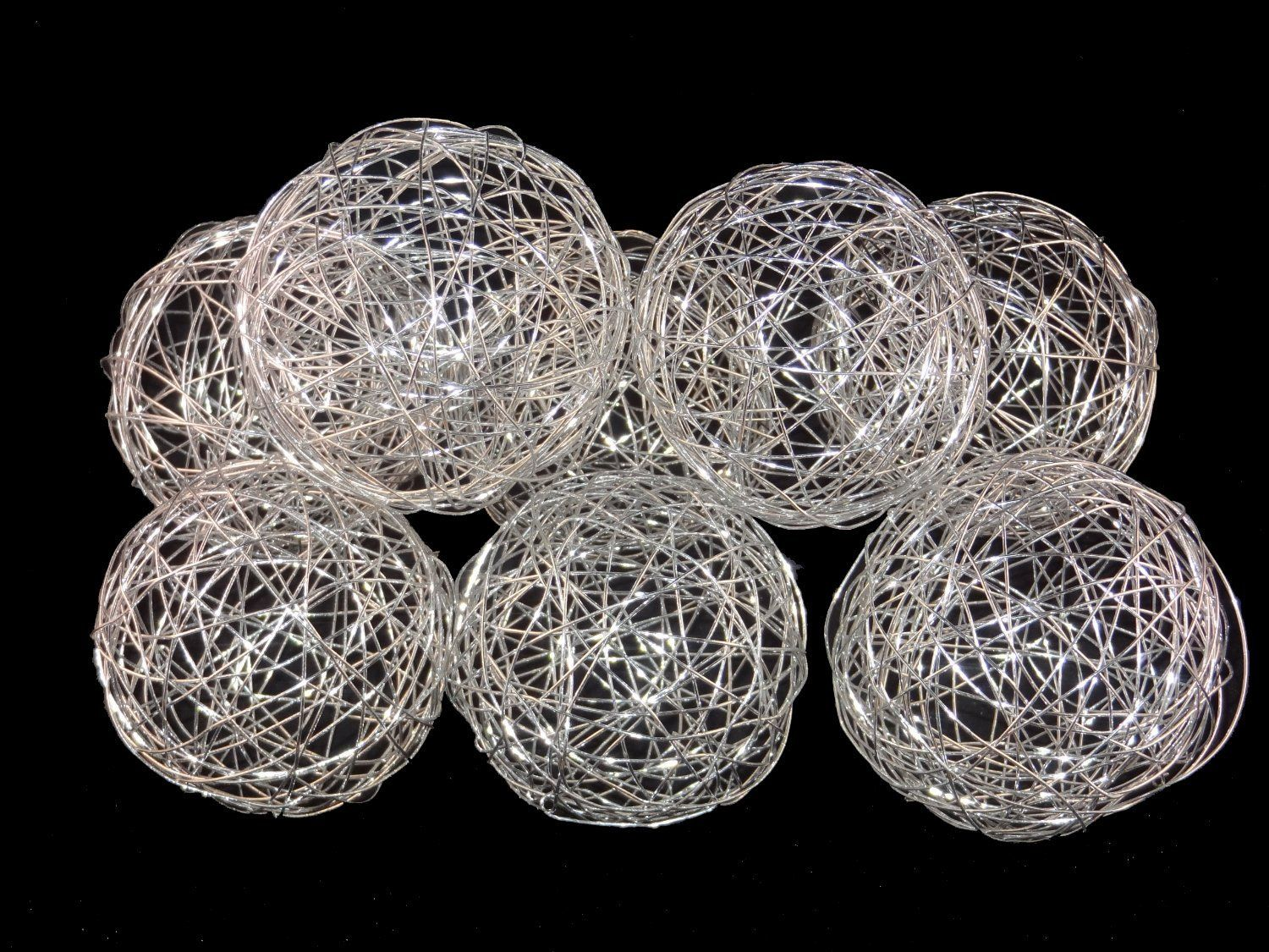 Decorative Balls For Bowls Australia 3'' Decorative Wire Ball Silverset Of 8 Balls  Little Beautiful
