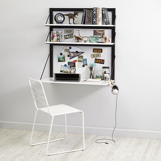 three tiers wall desk whiteblack 249 crate u0026 barrell 335