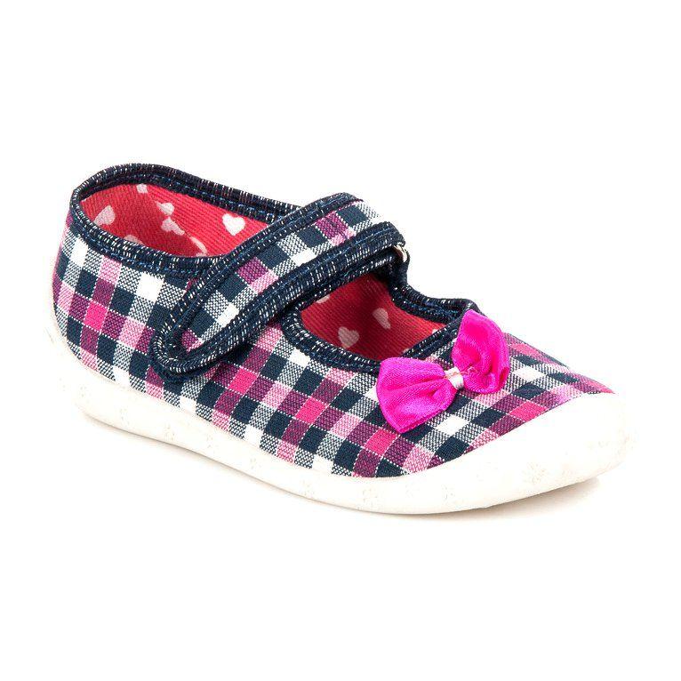 Kapcie Dzieciece Dla Dzieci Reweks Rozowe Buty Domowe W Kratke Reweks Baby Shoes Shoes Fashion