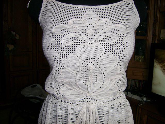 Женская одежда, филейное вязание