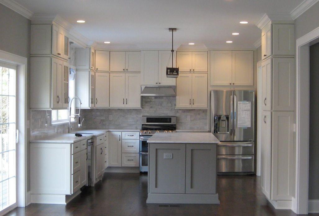 White Shaker Cabinets Kitchen Remodeling Photos Kitchen