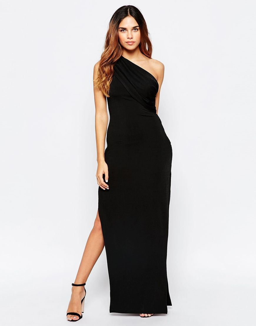 7626f65029 Maxi dress by Hedonia Woven fabric Contains stretch for comfort Asymmetric  neckline One shoulder design Thigh-high side split Slim fit - cut closely  to the ...