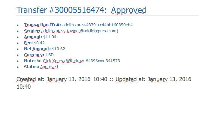 Always take the time to pay the ACX, never missed any payments. I work from home less than 10 minutes, and I managed to cover LOW wage income. If you have passive income seekers, and then AdClickXpress (Click Xpress ad) is the best online opportunity for you. Start with zero money and still make money on the ACX. It is absolutely possible, because we have seen thousands of them work every day. Check it out! For more information: http://www.adclickxpress.is/?r=h8h3u5sshty7&p=mx