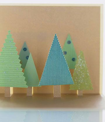 7 postales de Navidad fciles de hacer Abetos de navidad Abeto y