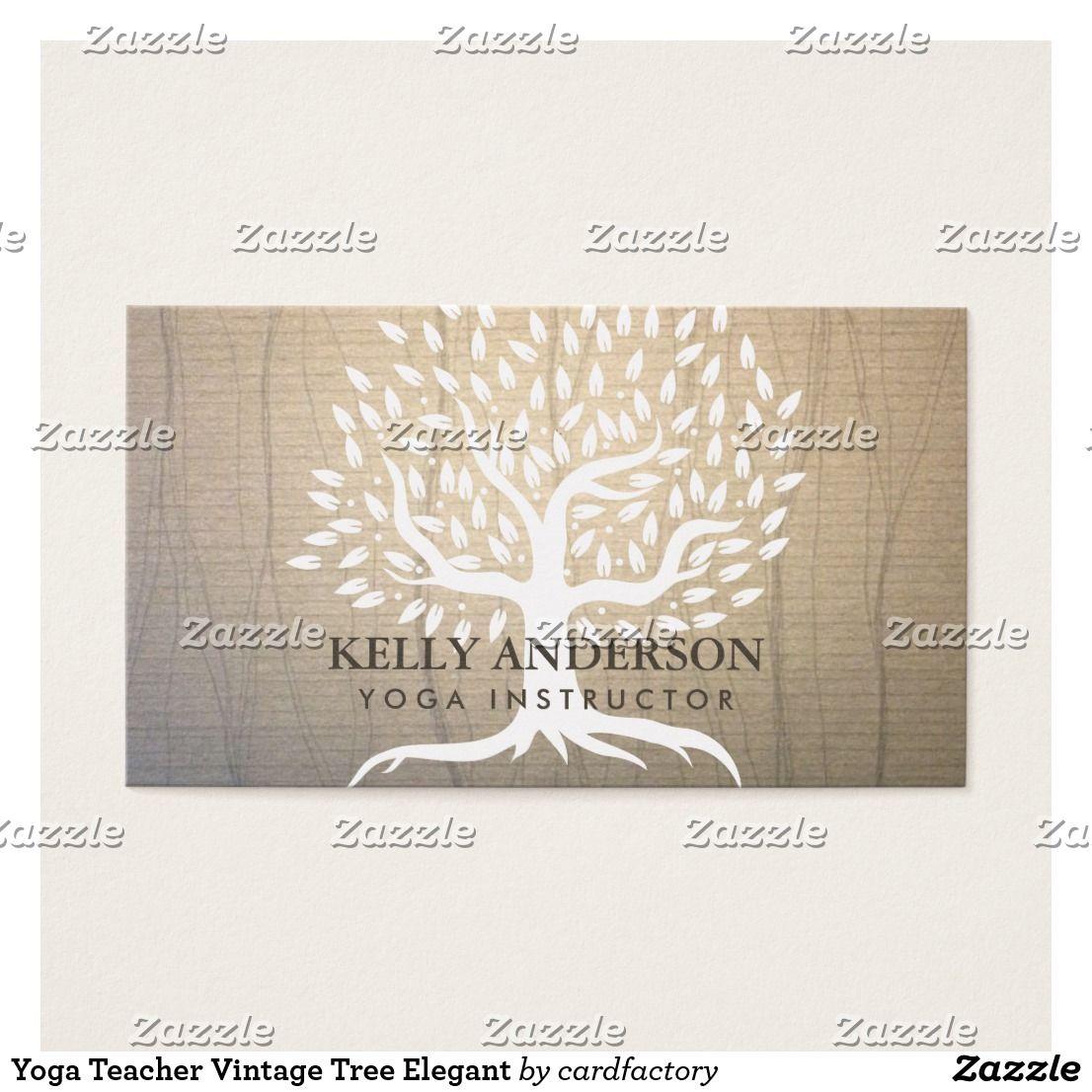 Yoga Teacher Vintage Tree Elegant | Custom Yoga Instructor/Teacher ...